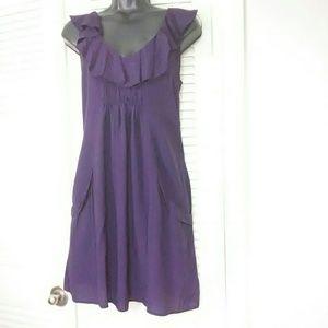 Miss Selfridge uk sz 10 us 6 purple ruffle dress